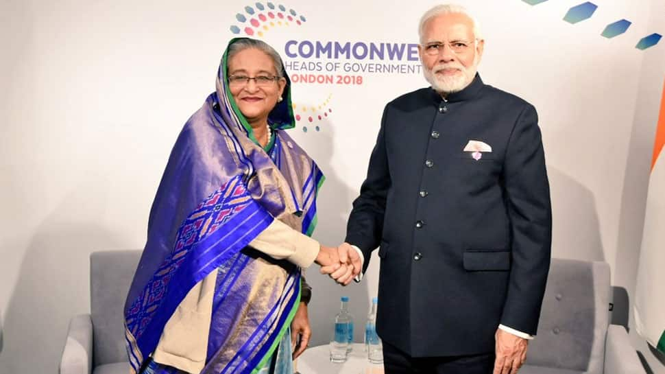 PM Narendra Modi holds bilateral talks with Sheikh Hasina, others on CHOGM sidelines