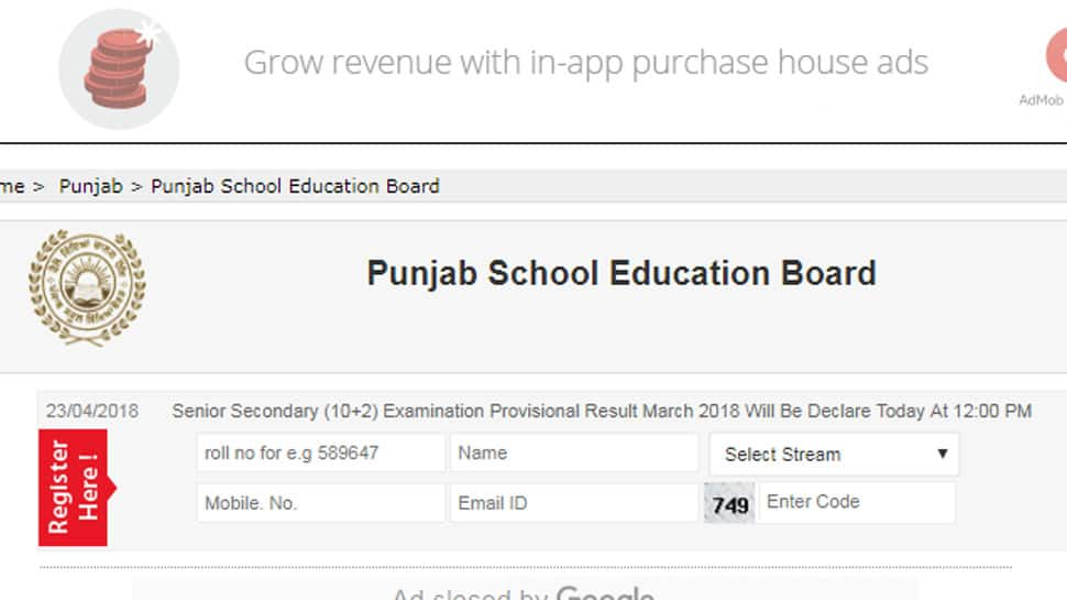 PSEB Punjab Board Class 12 results declared, Check www.pseb.ac.in for Provisional Results 2018
