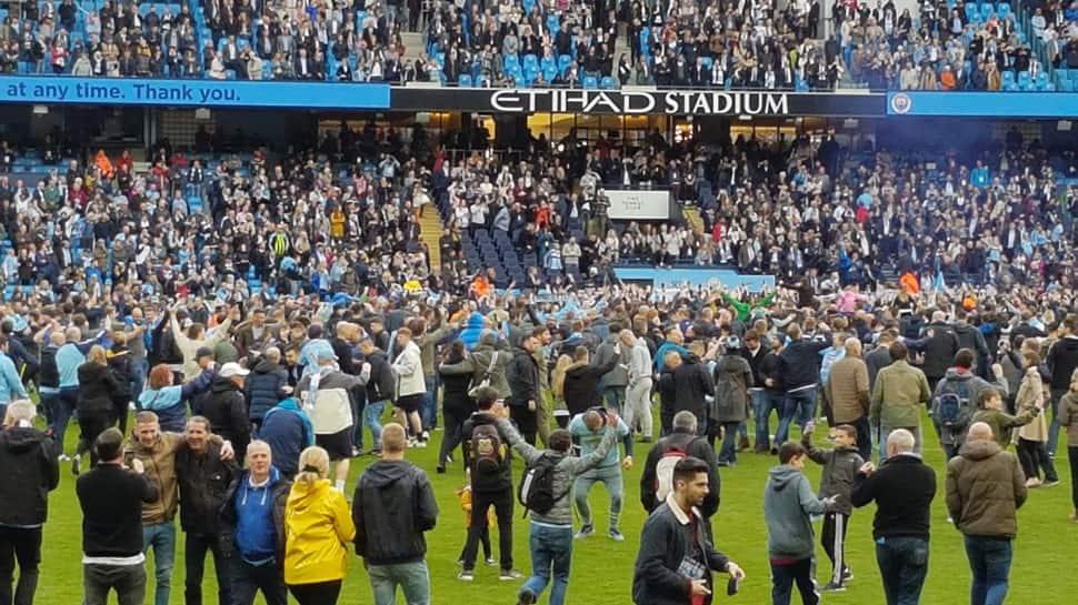 EPL: Pep Guardiola unconcerned by celebratory Manchester City pitch invasion