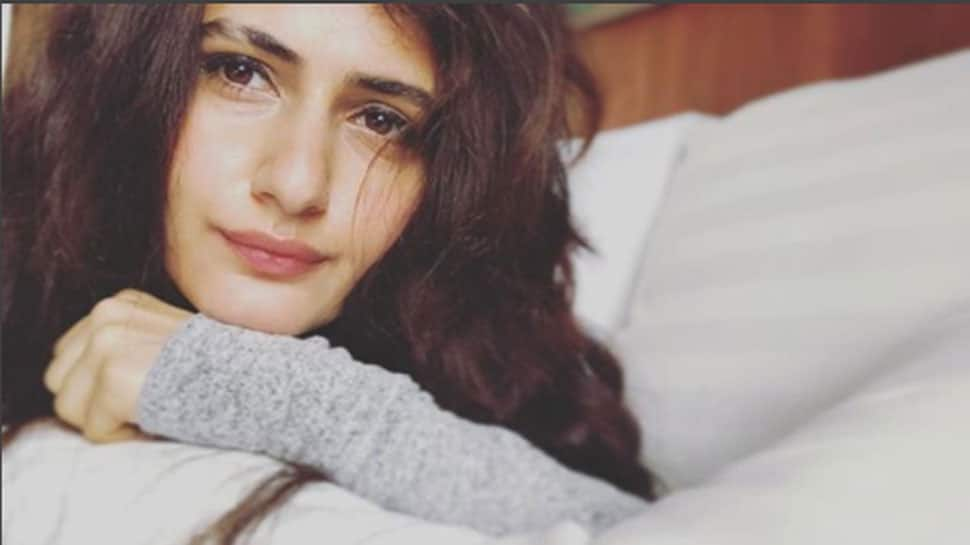 Fatima Sana Shaikh wears pretty pink dress to gym but it's her shaved eyebrow which steals the show—Photos