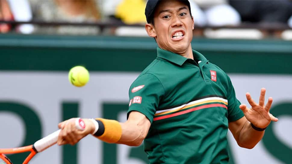 Kei Nishikori retires from first match at Barcelona Open