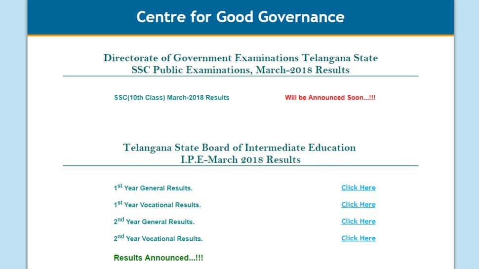 Telangana Board Results 2018: Check bse telangana gov in