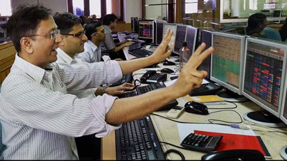 Sensex jumps 250 points, Nifty close to 10,700-mark