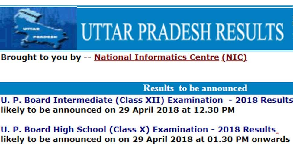 Upresults.nic.in 2018 Class 12th (Intermediate), Class 10th (High School) Results, date and timings