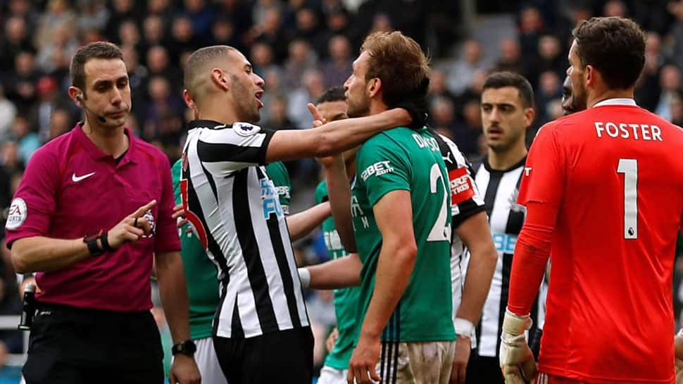 FA charges Newcastle United's Islam Slimani with violent conduct