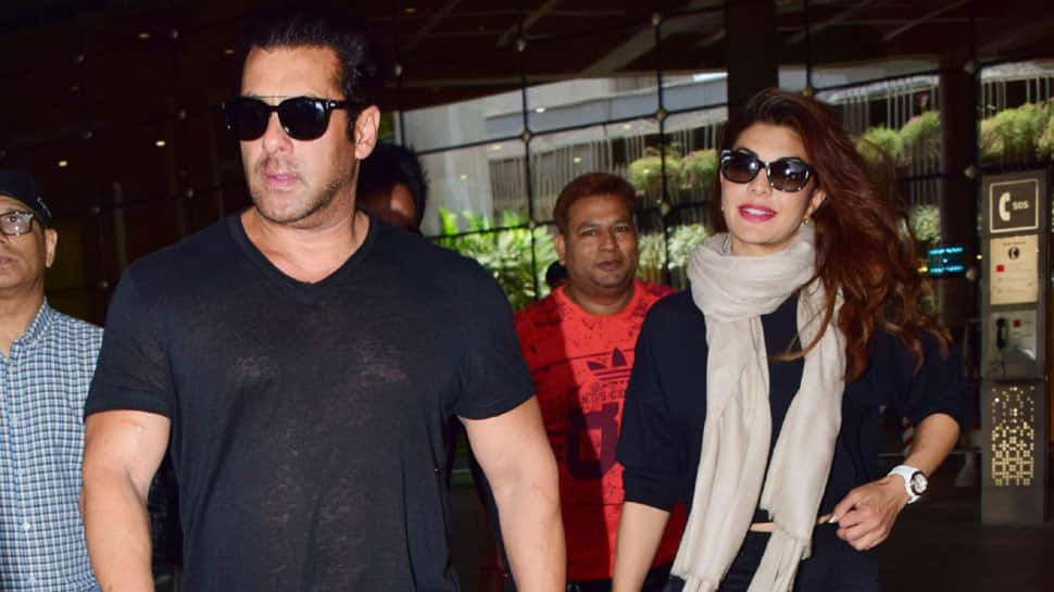 Salman Khan and Jacqueline Fernandez go twinning in black at the airport—Pics