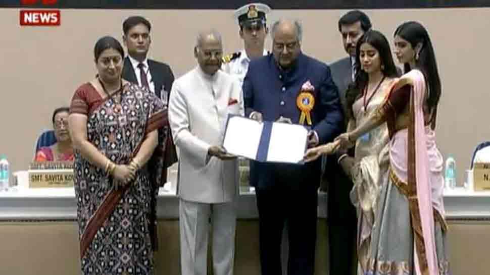 National Film Awards 2018: Boney Kapoor, Janhvi, Khushi receive Sridevi's Best Actress Award