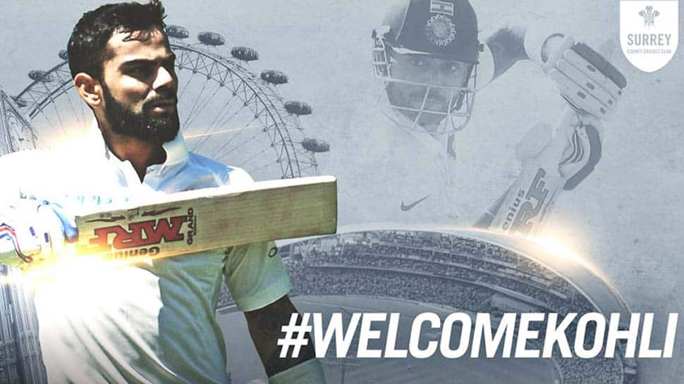 Surrey welcome 'biggest name' Virat Kohli with open arms