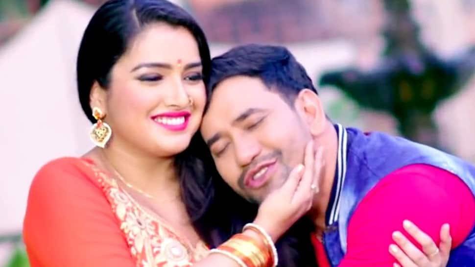 Amrapali Dubey-Dinesh Lal Yadav aka Nirahua burn the dance floor during rehearsals for Bhojpuri film awards—Watch