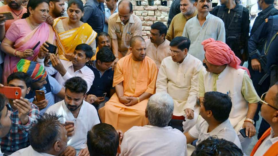 Yogi Adityanath meets dust storm-affected families in Agra district, promises house, other help