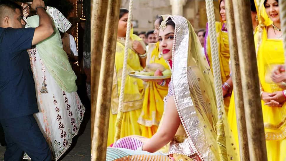 Sonam Kapoor-Anand Ahuja wedding: Will the bride wear this lehenga on her mehendi—Photos