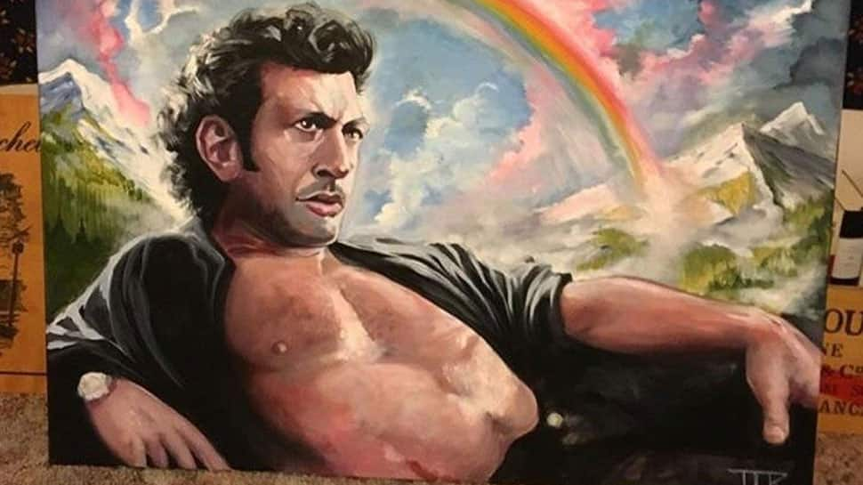 Woman tells boyfriend she loves 'topless' Jeff Goldblum, gets actor's painting on birthday