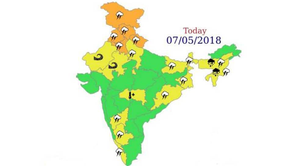 IMD issues thunderstorm, squall warnings for many states