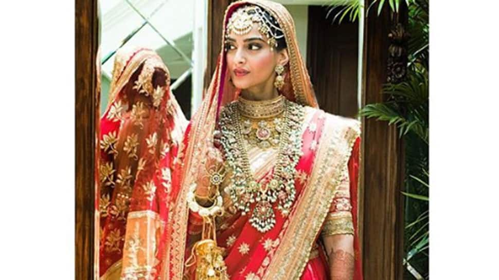Sonam Kapoor looks stunning as a bride in red! Check pictures