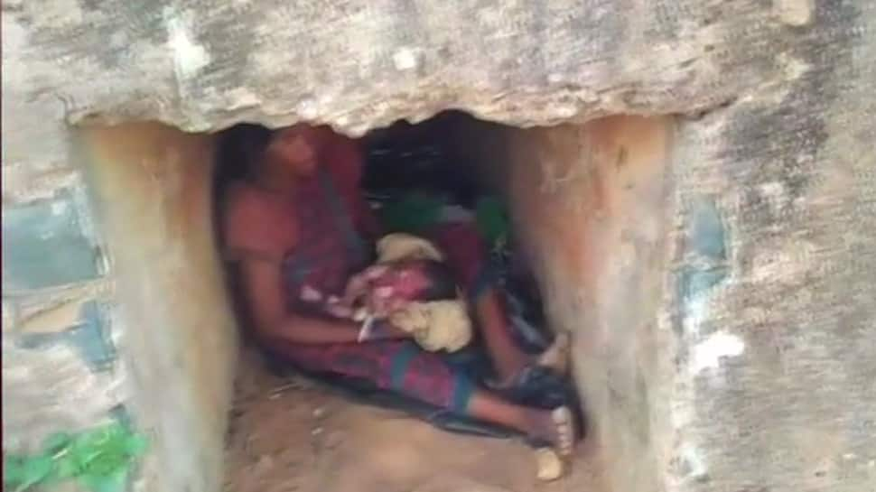 Odisha woman gives birth to baby in a culvert as elephant destroyed her home