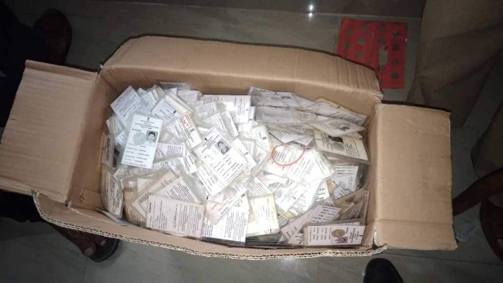 BJP, Congress spar over owner of Bengaluru flat where thousands of voter IDs were recovered