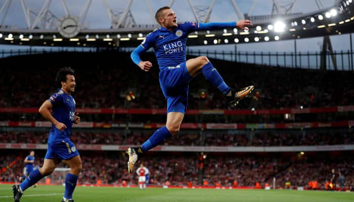Jamie Vardy on the scoresheet as Leicester thump 10-man Arsenal 3-1