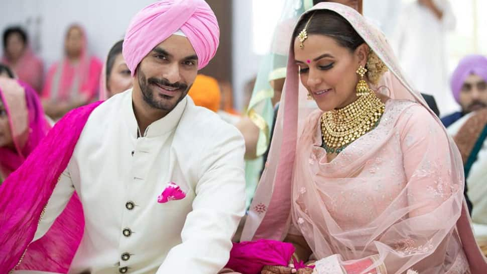 Neha Dhupia marries Angad Bedi, shares adorable pic on Twitter