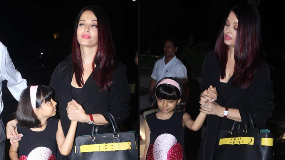 Aishwarya Rai Bachchan, daughter Aaradhya leave for prestigious Cannes Film Festival — See pic