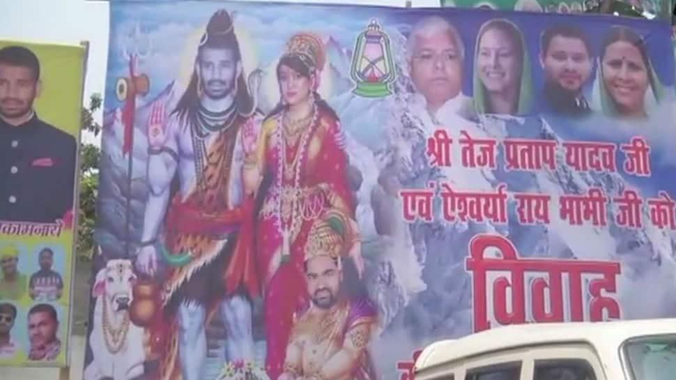 Tej Pratap and Aishwarya Rai as Shiv and Parvati? Poster sparks outrage