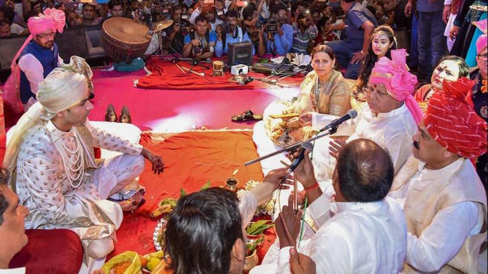 Tej Pratap Yadav ties the knot with Aishwarya Rai