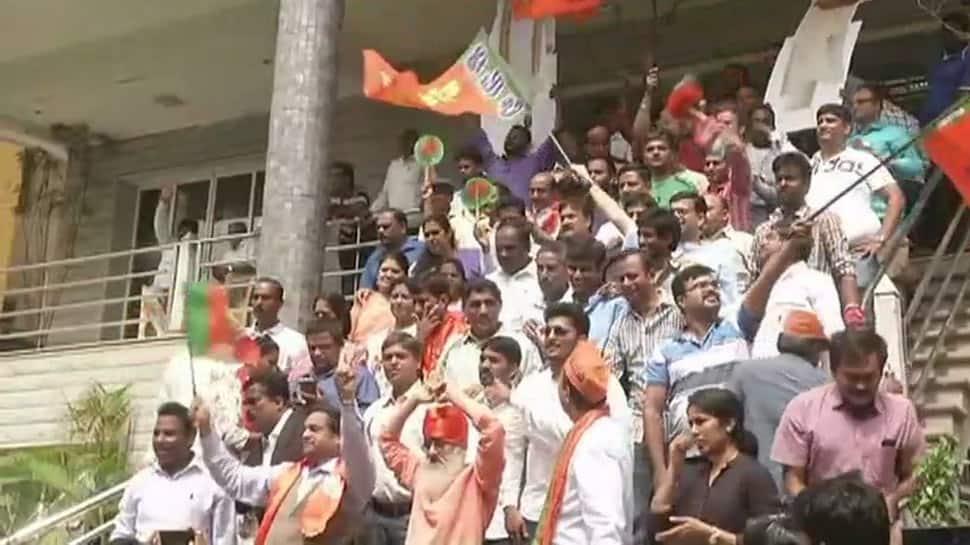BJP leads in Karnataka, party workers begin celebration in state