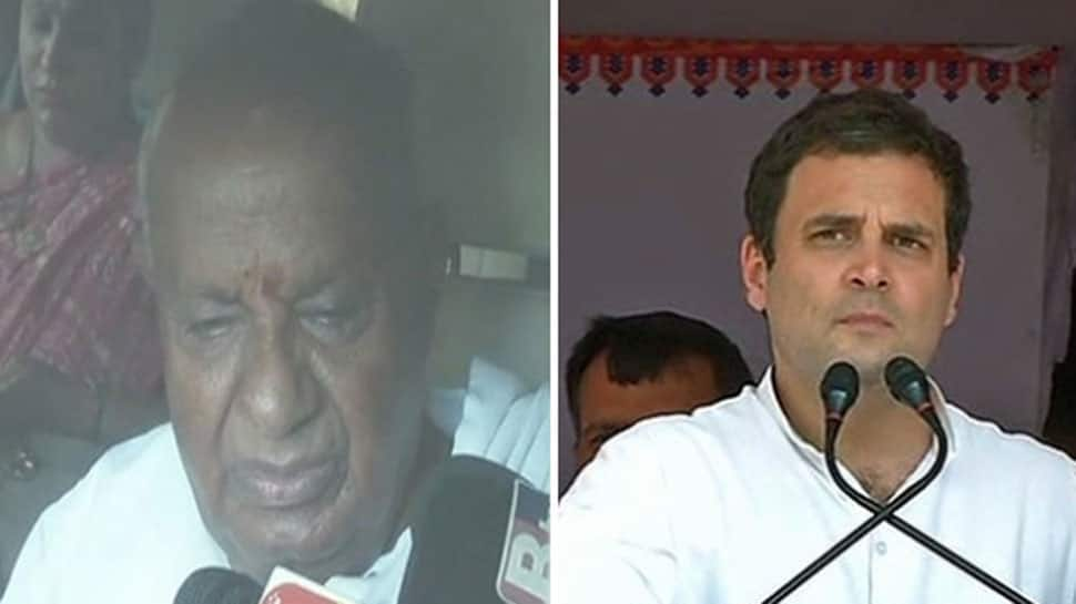Deve Gowda, Rahul Gandhi discuss political situation in Karnataka over phone