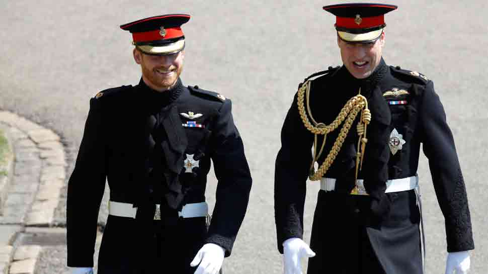 Prince Harry wears frock-coat uniform of the Blues and Royals for wedding