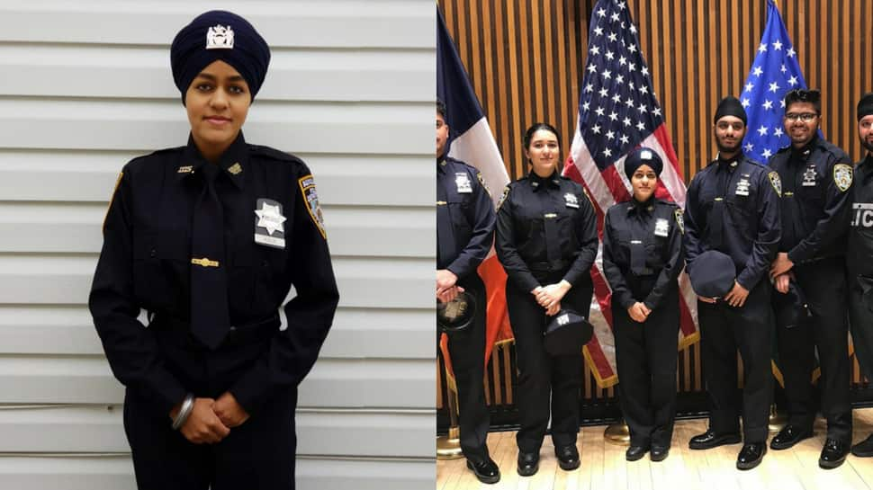First female turbaned Sikh auxiliary police officer inducted into New York Police