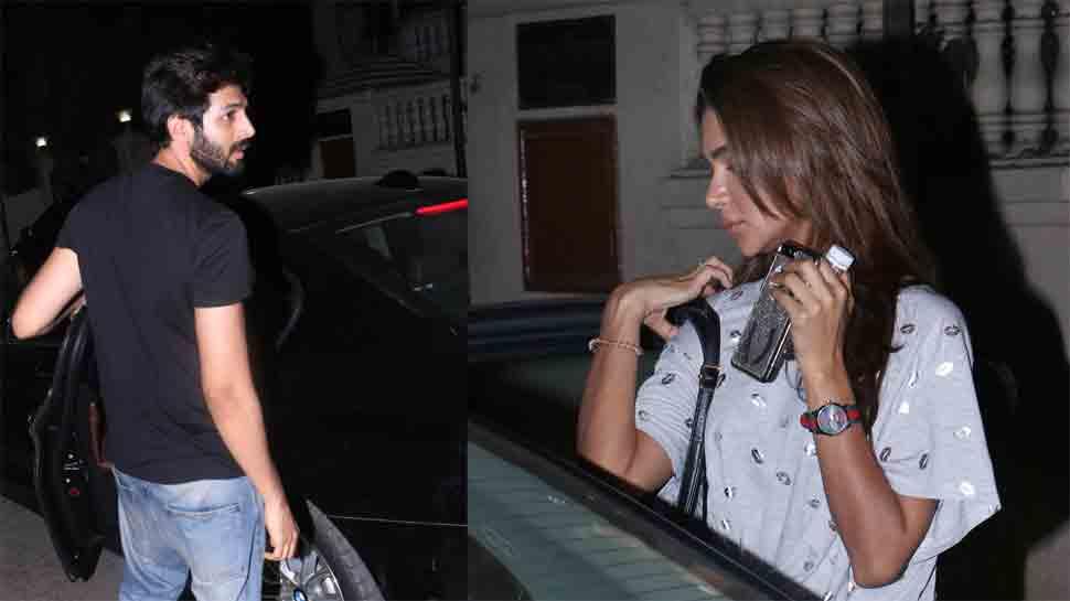 Kartik Aaryan spotted with rumoured girlfriend Dimple Sharma in Juhu