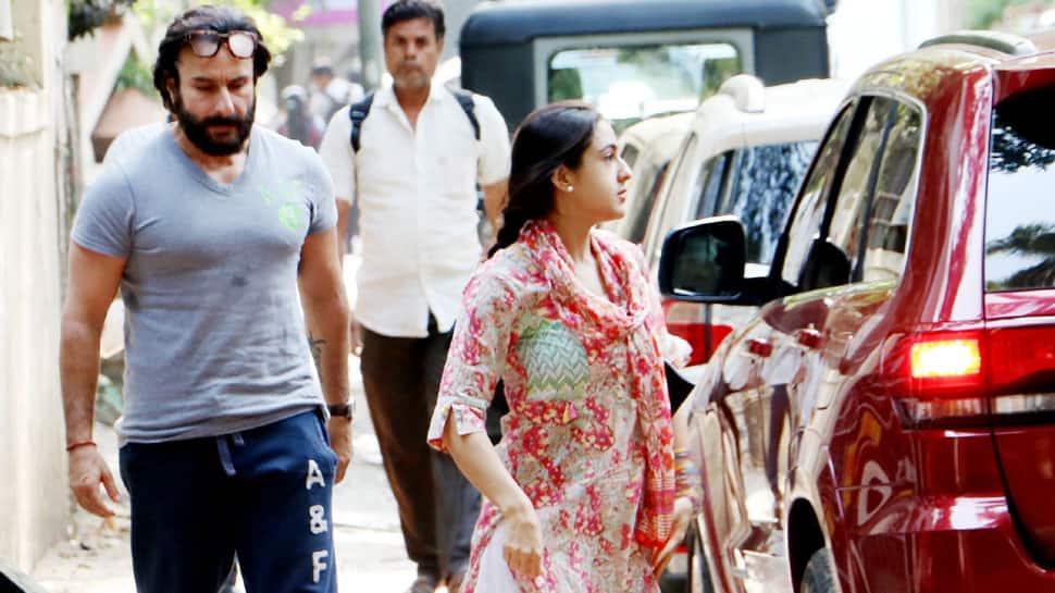 Sara Ali Khan spotted with daddy Saif Ali Khan in Bandra—See pics