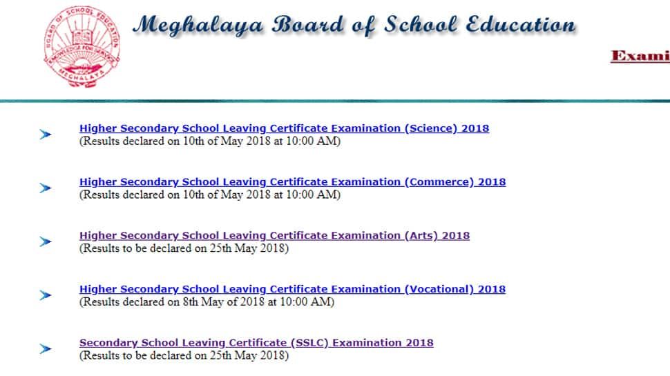 Meghalaya results 2018: MBOSE SSLC Class 10 results, HSSLC Class 12 Arts results declared. Pass percentage, toppers list on megresults.nic.in