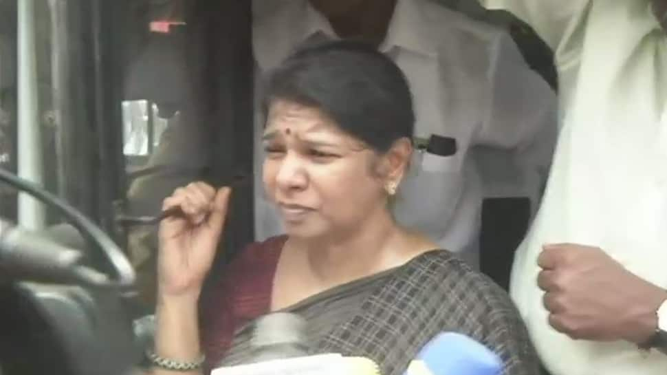 DMK MP Kanimozhi detained during protest against police firing in Thootikudi
