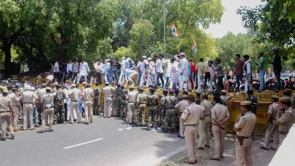 Congress-linked outfits observe 'Vishwasghat Diwas', hold protest on Modi government's  fourth anniversary
