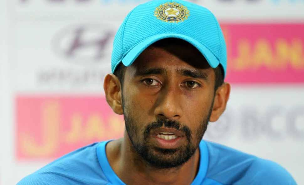 Injury scare for Wriddhiman Saha ahead of Afghanistan Test