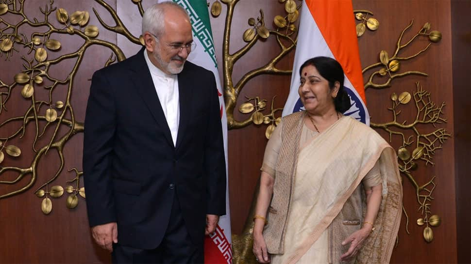 Sushma Swaraj holds talks with her Iranian counterpart Javad Zarif, says India only recognises UN sanctions