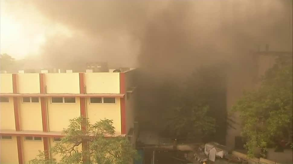 Over 12 hours on, Delhi's Malviya Nagar fire yet to be doused, firefighting operations on