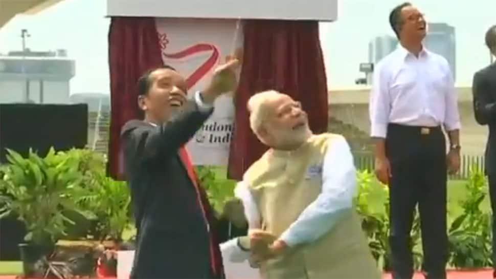 Watch: With a broad smile, PM Narendra Modi flies kite with Indonesian President Joko Widodo in Jakarta