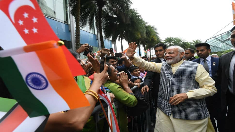 PM Narendra Modi hails close ties between India and Singapore