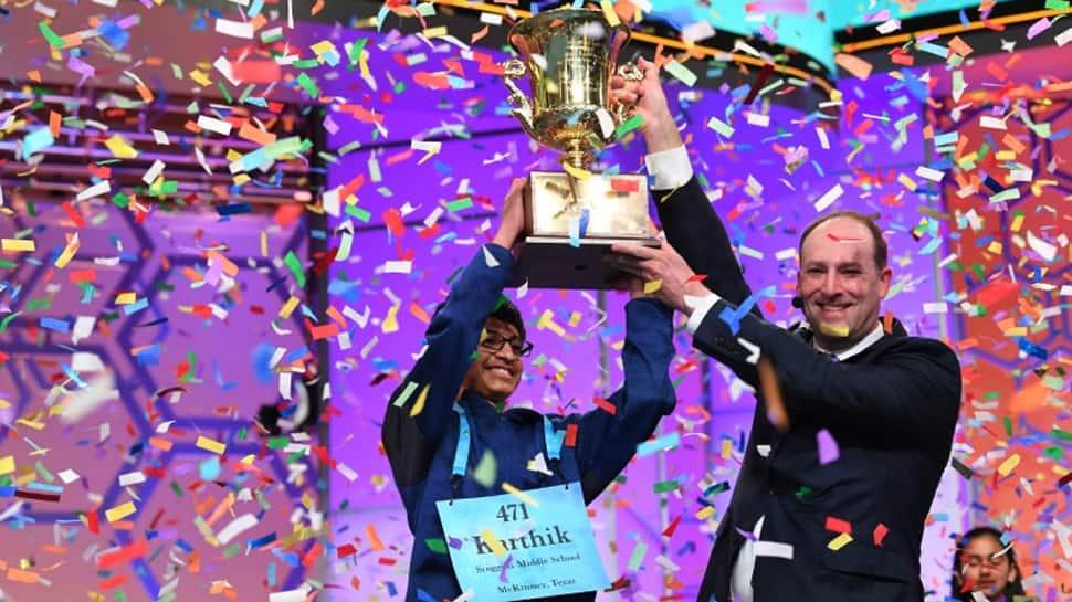 Indian-origin boy spells 'koinonia'' correctly, wins Spelling Bee