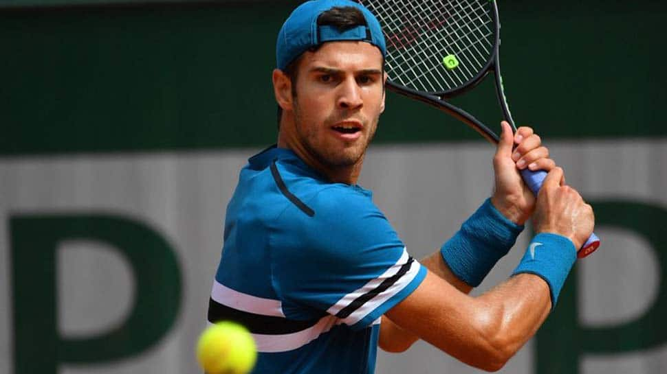 French Open: Karen Khachanov downs Lucas Pouille to set up Alexander Zverev last-16 clash