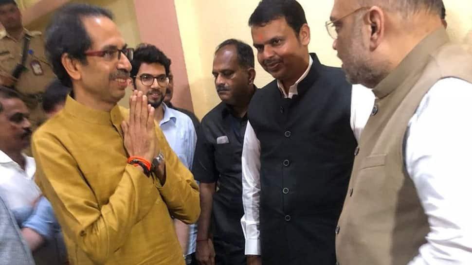 Amit Shah meets Uddhav Thackeray in closed room as Devendra Fadnavis waits outside