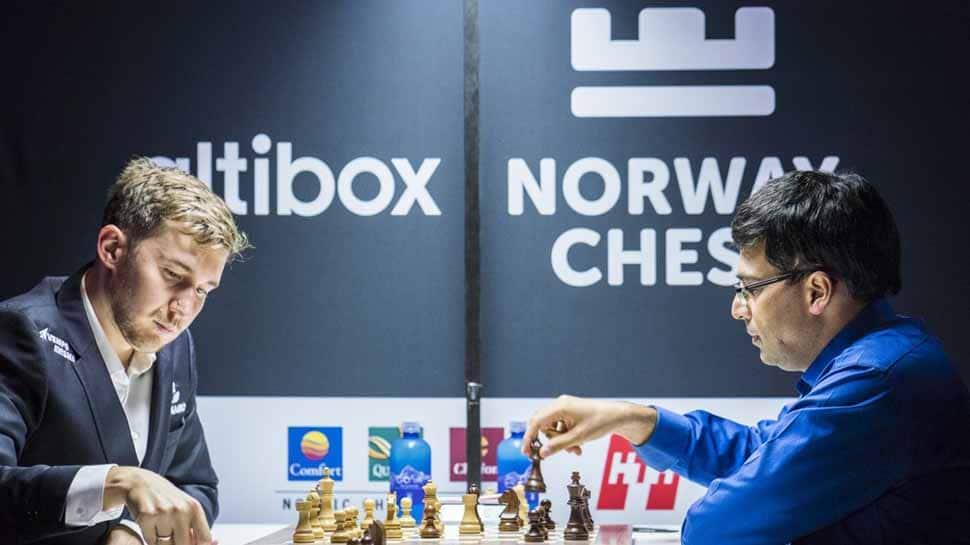 Altibox Norway chess Tournament: Viswanathan Anand beats Sergey Karjakin to finish joint second