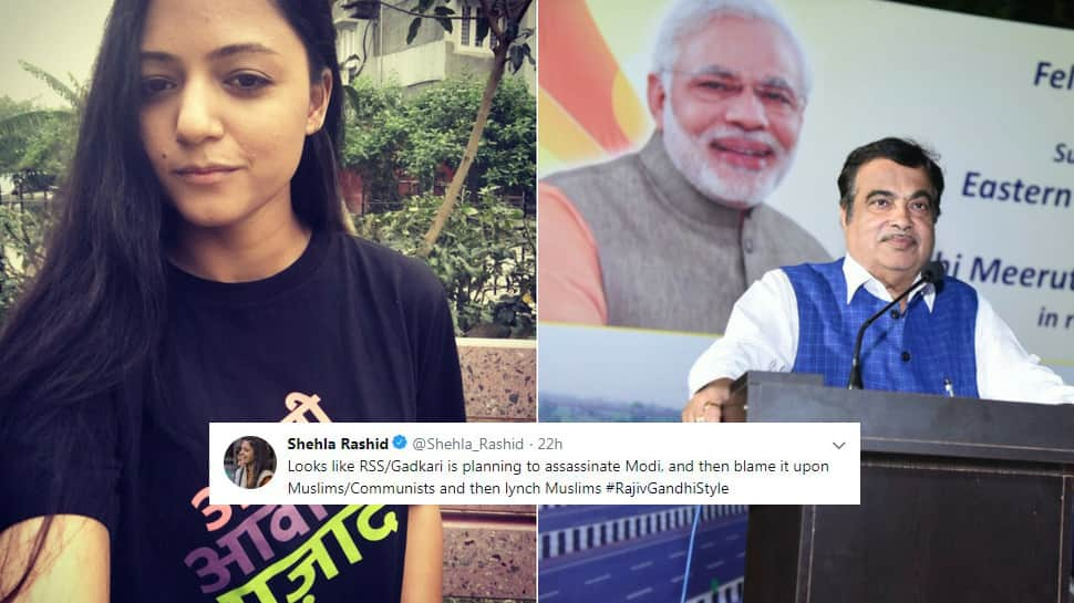 Nitin Gadkari planning to kill PM Narendra Modi, Shehla Rashid posts 'sarcastic' tweet; minister to sue her