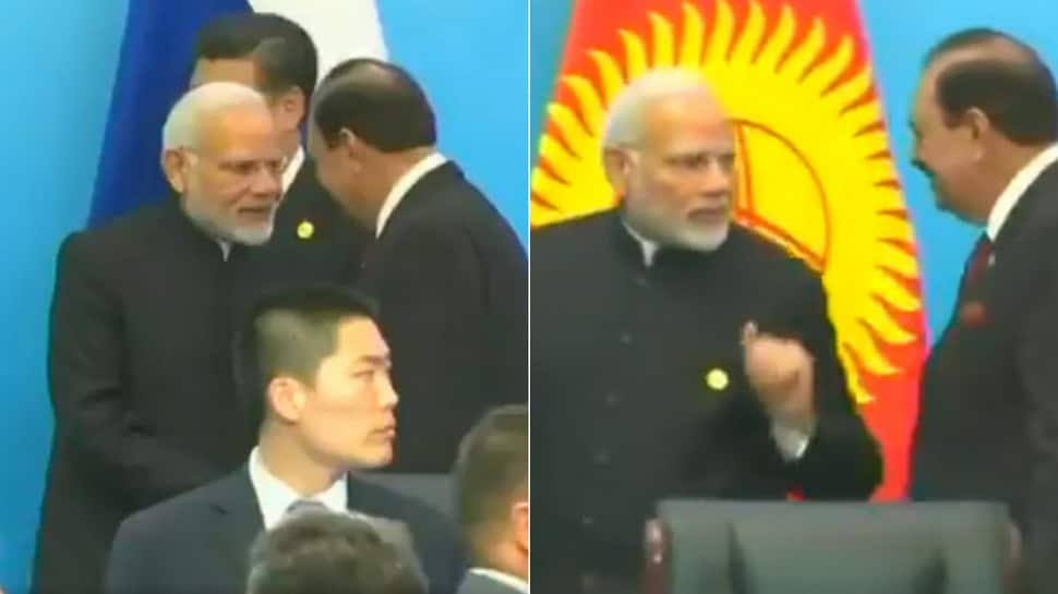 After handshake with Pakistan President Mamnoon Hussain, PM Narendra Modi talks tough on terror and Afghanistan