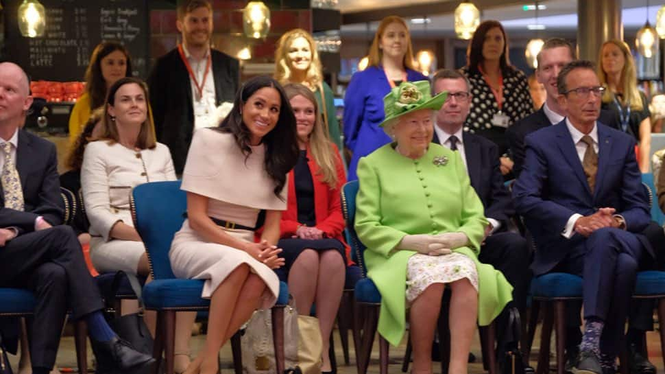 Duchess Meghan makes first joint appearance with queen
