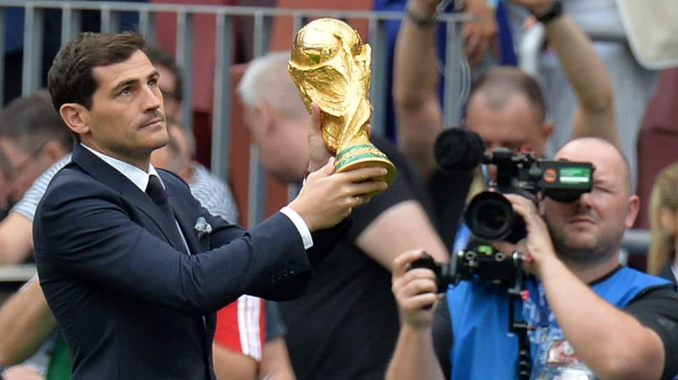 FIFA World Cup 2018: Iker Casillas presents FIFA World Cup trophy at Luzhniki stadium