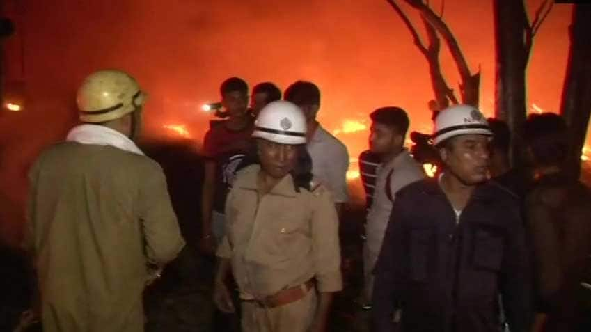 Massive fire breaks out in plastic godown in Delhi's Nangloi, no casualties so far