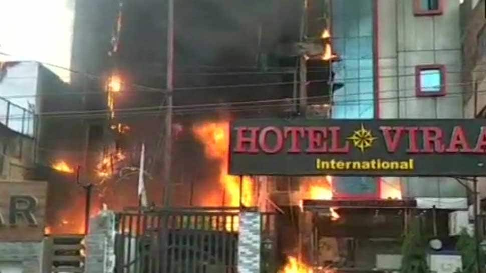 Two hotels in Lucknow gutted in massive fire; 5 dead, over 50 rescued