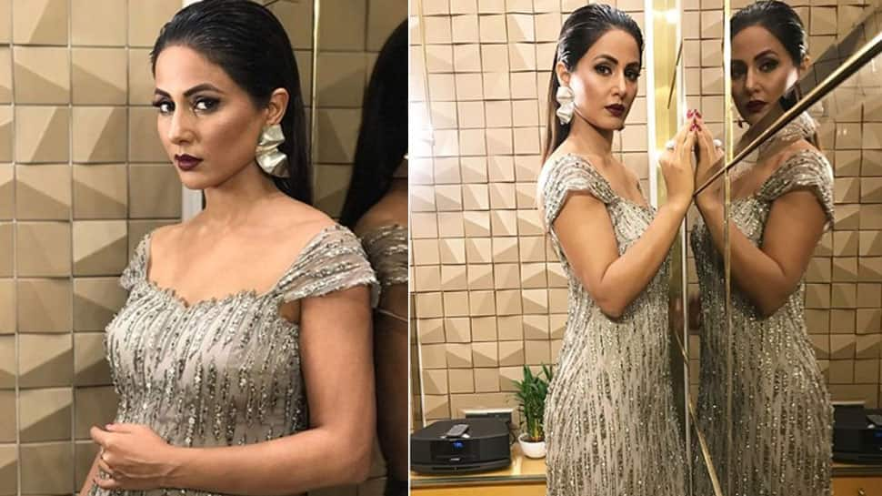 Bigg Boss 11 finalist Hina Khan looks smouldering in a shining gown and we can't take our eyes off! Pics